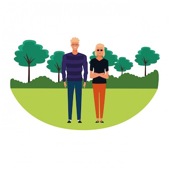 Couple avatar cartoon character