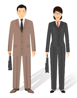Couple of business asian man and woman.