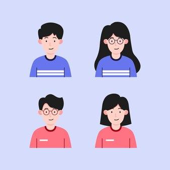 カップルキャラクターデザインイラスト