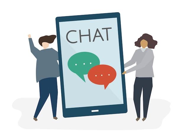 Coppia in chat tra loro