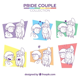 Couple collection for lgtb pride