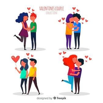 Collezione di coppie per san valentino