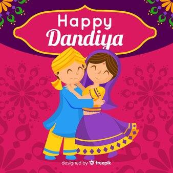 Couple dandiya background