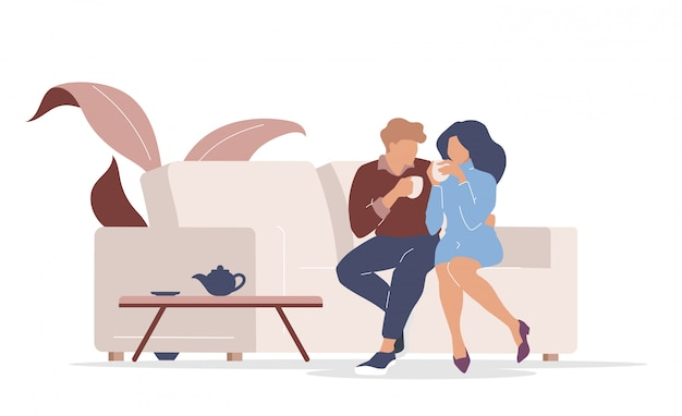 Couple on date  color  faceless characters