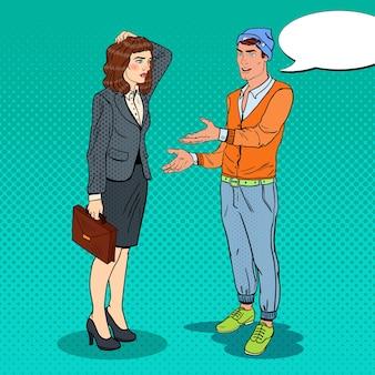 Пара разговаривает