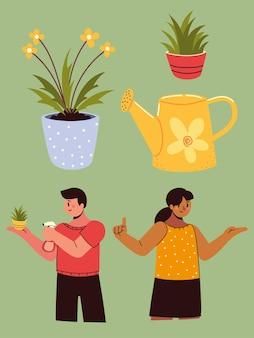 Пара символов комнатных растений