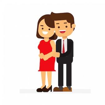 Couple hugging together dating on saint valentine day