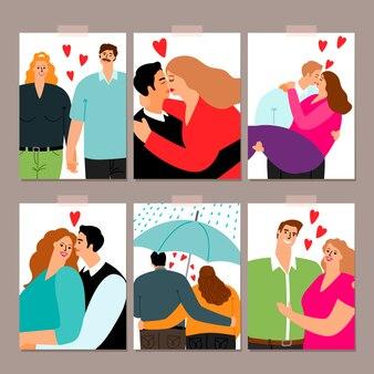 愛カードコレクションのカップル