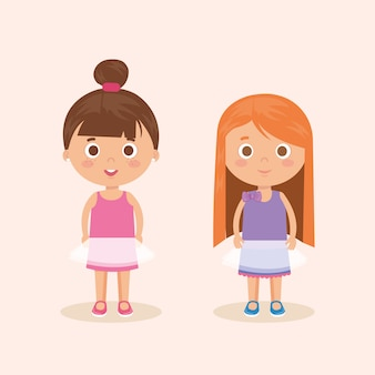 Couple of little girls characters