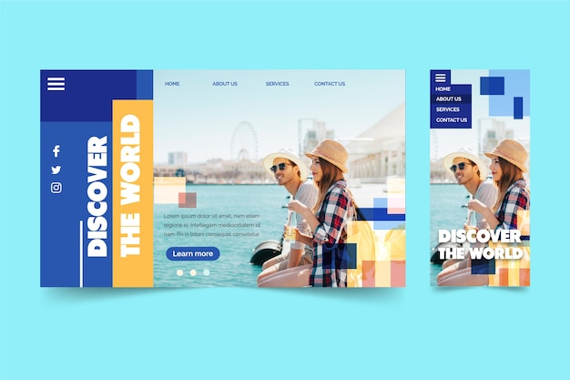 Couple in london landing page