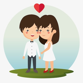 Couple in love together forever icon