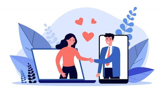 Встреча пар на сайте знакомств