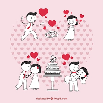 Coppia di sposi in amore