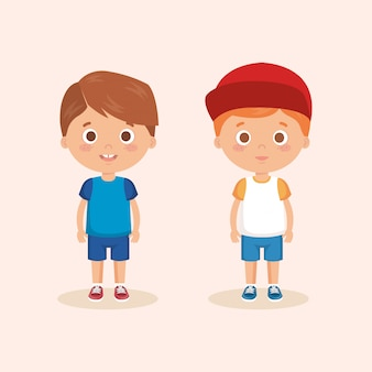 Пара маленьких мальчиков персонажей