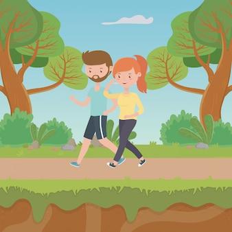 女と男の漫画のカップル