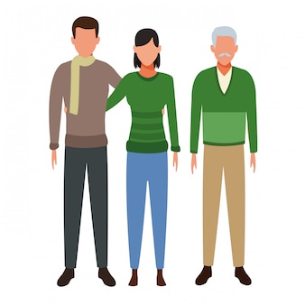 Couple and old man avatar