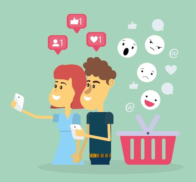 소셜 네트워크에 커플