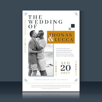 Couple photo wedding invitation template