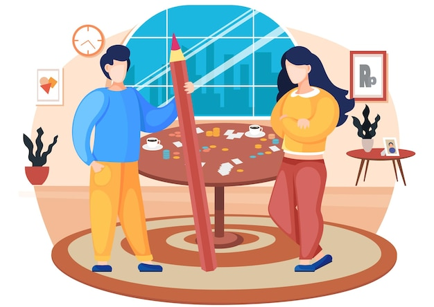 Couple playing board game at home