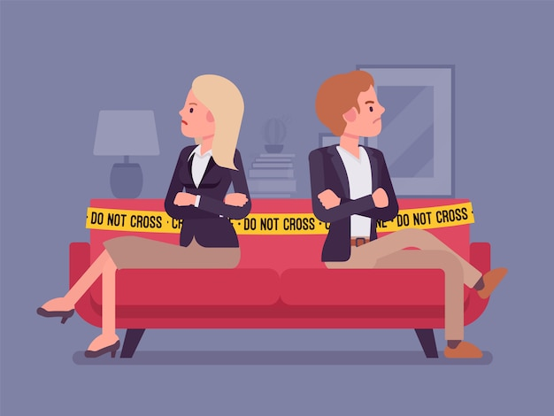 Домашняя сцена ссоры пар