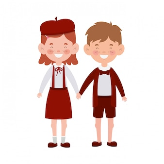 Couple students standing smiling