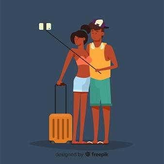 Couple traveling background