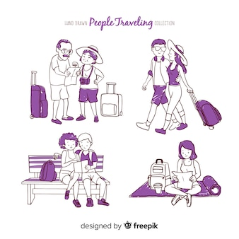 Couple travelling collection