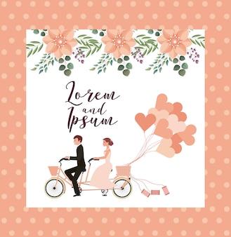 Couple wedding card