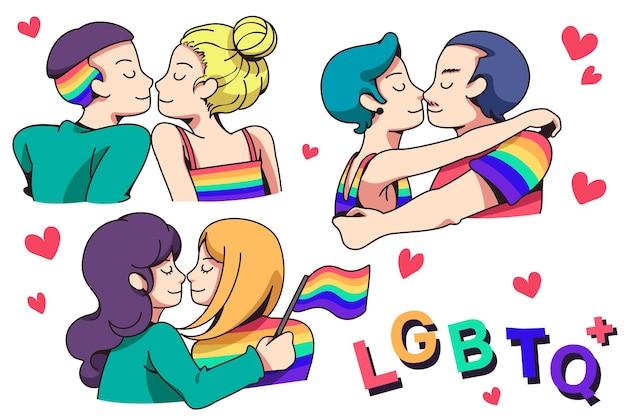 Le coppie si uniscono per mostrare la loro forza e celebrare l'amore