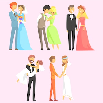 Couples getting married