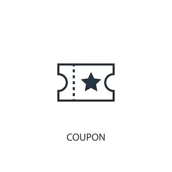 クーポンアイコン。シンプルな要素のイラスト。クーポンコンセプトシンボルデザイン。 webおよびモバイルに使用できます。