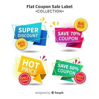 Coupon sale label collectio