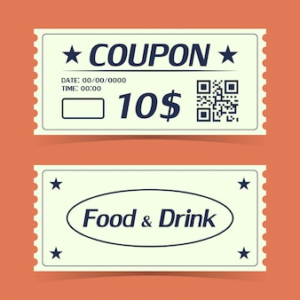 Coupon ticket card. element template for design