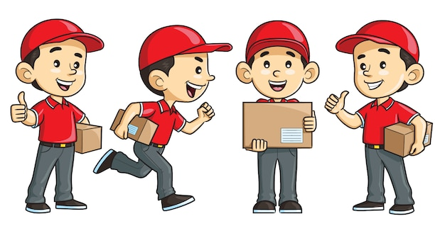 Courier cartoon