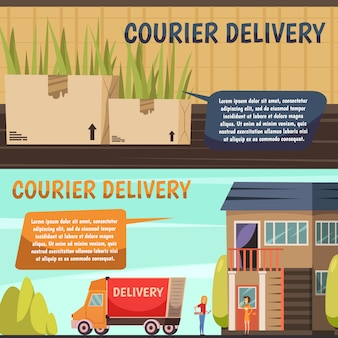 Courier delivery 2直交バナー