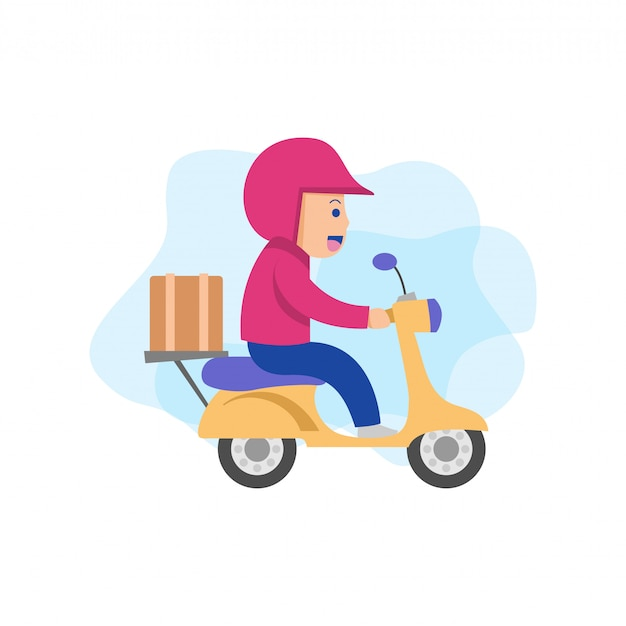 Courier delivery character vector
