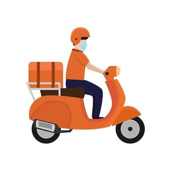택배 배송 오토바이 서비스