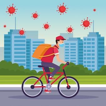 Курьер в службе доставки велосипедов