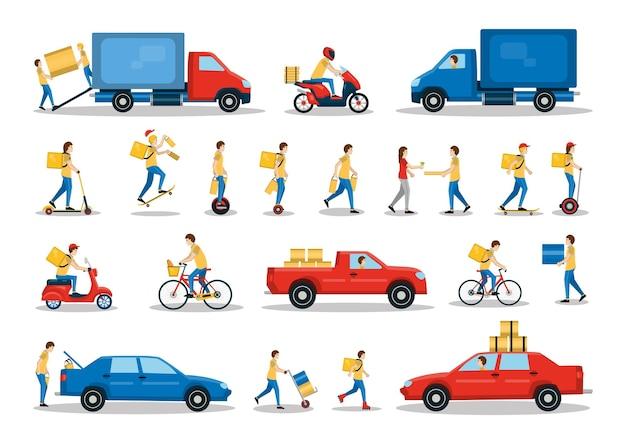 택배는 다양한 방법으로 상품과 소포를 배달합니다.