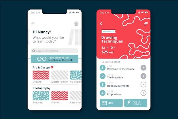 Course app concept