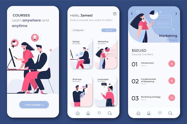 Course app interface concept