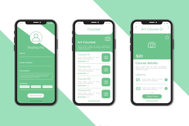 Course app template collection