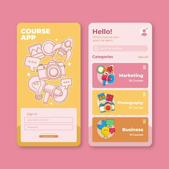 Course app template set