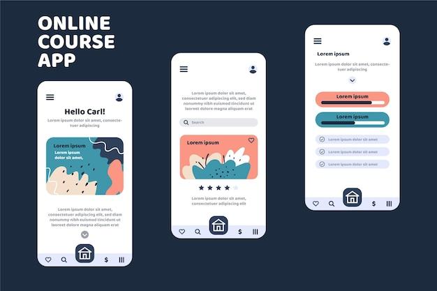 Course app template