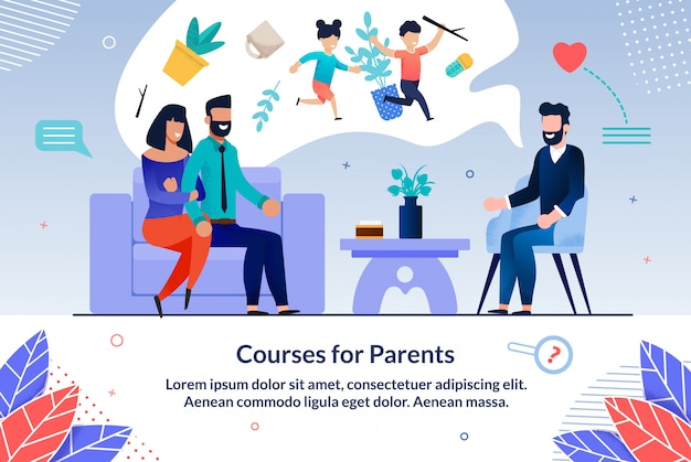 Courses for pregnant flat informational ad