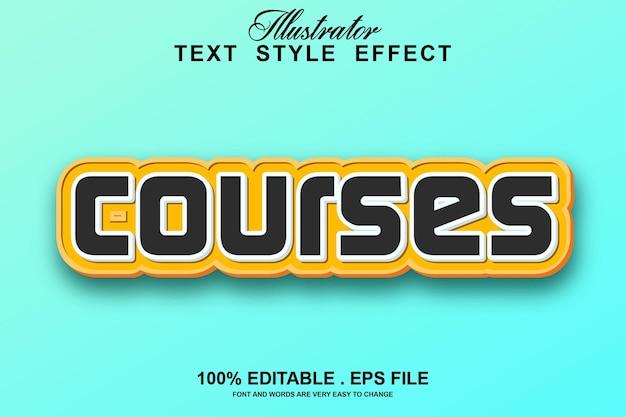 Редактируемый текстовый эффект курсов