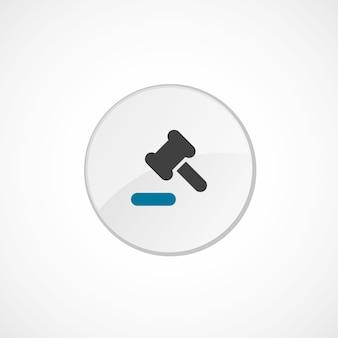 裁判所法アイコン2色、灰色と青、円のバッジ