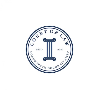 Court of law logo  for lawyer