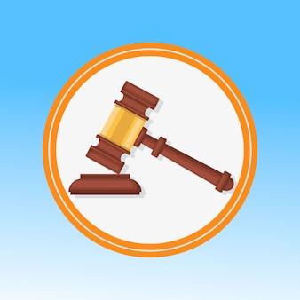 法廷の小槌のクローズアップ