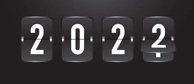 Coutdown календарь флип-доска с табло, оставшееся время в реалистичном стиле, изолированном на черном